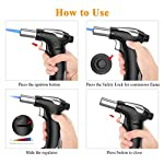 Blow Torch, Kitchen Torch Lighter with Safety Lock, Refillable Butane Gas Adjustable Flame Cooking Torch for, Brulee… 5