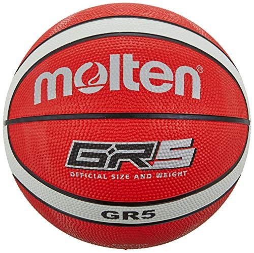 Molten Unisex's Basketball Ball BGR5, red/White, 5