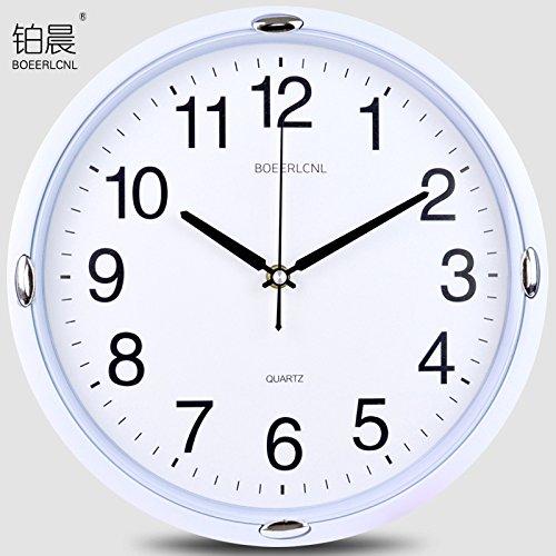 wanduhr,wanduhr ohne tickgeräusche.Stille Wanduhr kreative Mode Quarzuhren einfache Uhr Wohnzimmer Schlafzimmer Uhren moderne Familie Wandkarten, 12 Zoll (Durchmesser 30,5 cm), 30 cm weiße Scheibe DB