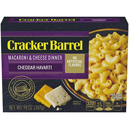 Cracker Barrel Cheddar Havarti Macaroni and Cheese Dinner 14 oz Box
