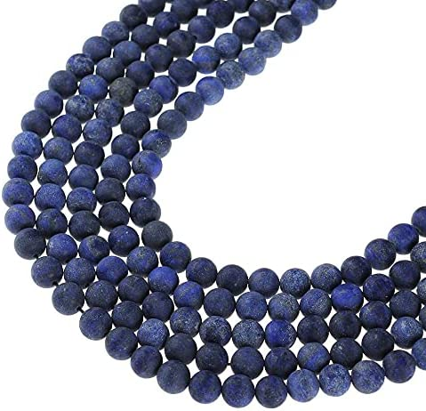 BDI161513 Beadings Selling and selling Dull Polish Matte Loose Round Lapis Lazuli Be Free shipping anywhere in the nation