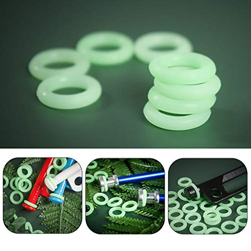 Zumint Glow in The Dark Tent Peg Nail Ring, Camping Accessories, Luminous Light in The Dark Silicone Circle for Night Vision, Mark Making, Reusable,Green,Outdoor Night Safety Accessories