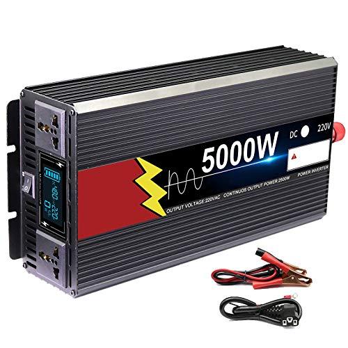 Inversor De Energía De Onda Sinusoidal Pura, 3000W 4000W 5000W 6000W 9000W 12V24V48V60V A 220V Conversión Solar Fotovoltaica Del Coche De Alta Potencia De Alta Potencia ( Power : 60v-220v 9000w )