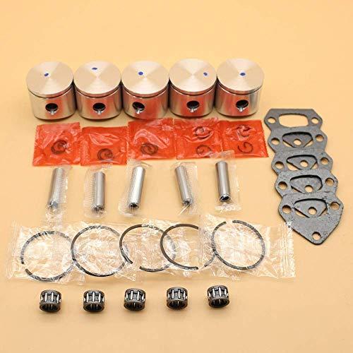 Juego de juntas de cojinete de anillo de pasador de pistón de 38MM para piezas de motosierra HUSQVARNA 36136 LE 137142 E JONSERED 2036# 530069944, 530 06 99-44