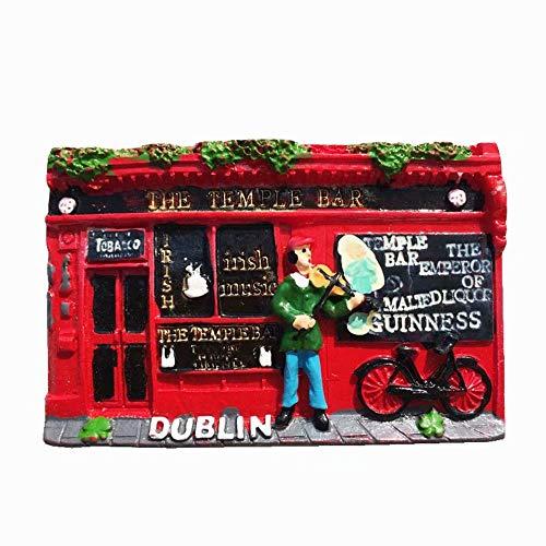 Weekino Dublino, Irlanda Calamità da frigo 3D Polyresin Tourist City Viaggio Souvenir Collezione Regalo Forte Frigorifero Sticker