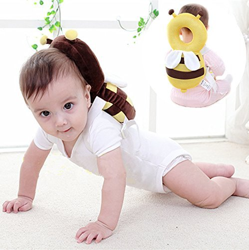 Skyeye Las Abejas de los Niños del Bebé del Niño Resistente a la Rotura Almohada de la Cabeza Anti-Colisión Después de la Caída de la Almohada Almohadilla de Protección para la Cabeza del Bebé