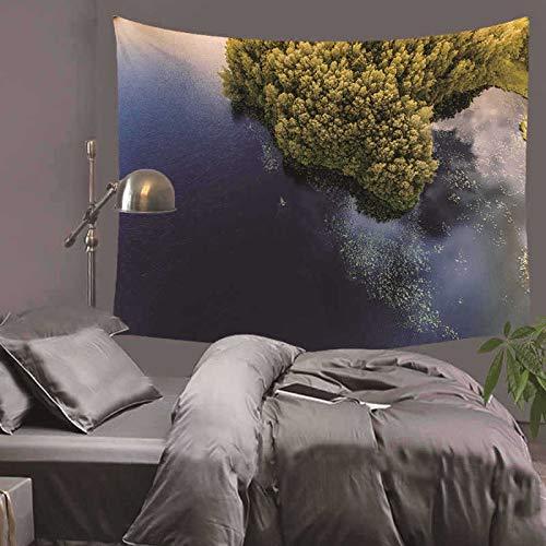 jtxqe Dekorative Tapisserie Decke Moderne einfache Webmaschine waschbar Südostasien Serie Landschaft Hause Wandbehang Wanddekoration Strandtuch 75x87cm