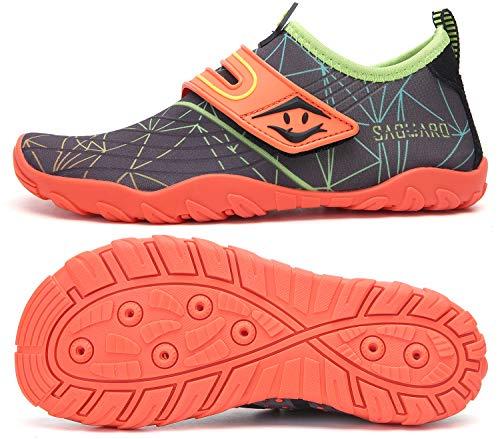 SAGUARO Dziecięce buty kąpielowe, antypoślizgowe, szybkoschnące, rozmiar 24-36, pomarańczowa - St 2 pomarańczowy - 36 EU