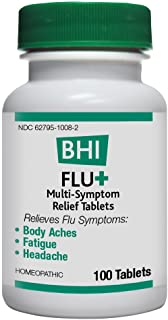 BHI Flu + Cold/Flu Symptom Relief Natural, Safe Homeopathic Relief - 100 Tablets