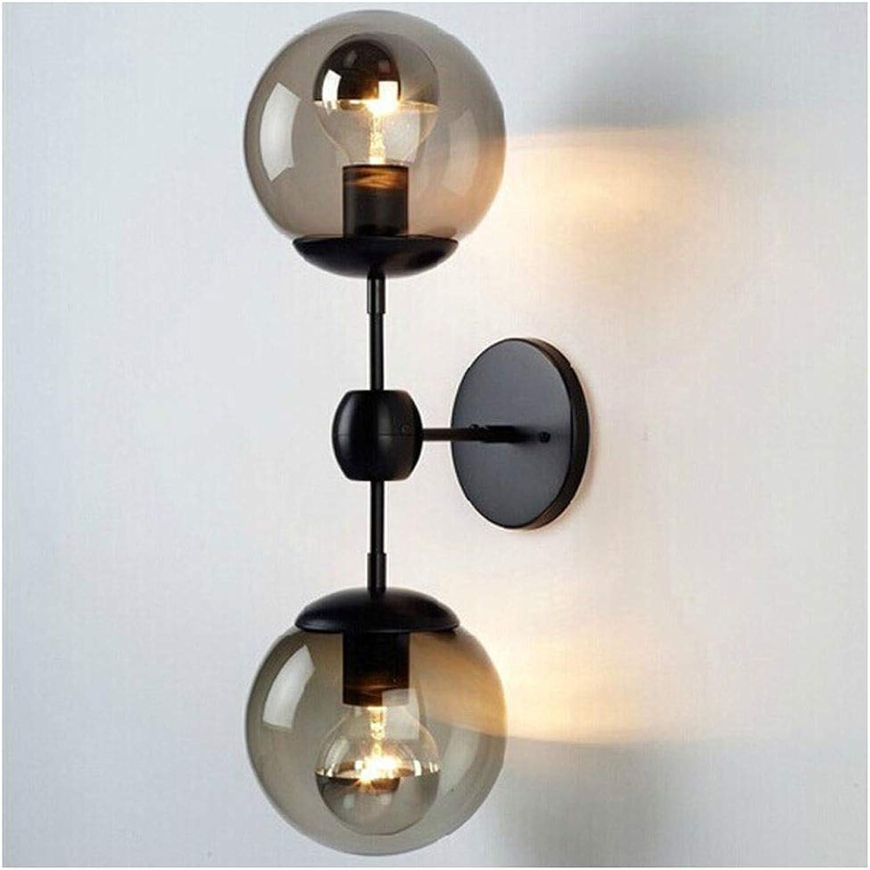 Lámpara de parojo Estilo industrial retro Bola de cristal Lámpara de parojo Restaurante Tienda de ropa Iluminación decorativa (Estilo   2)