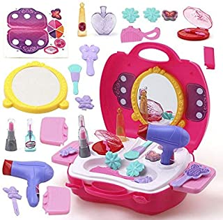 FunBlast Pretend Play Cosmetic and Makeup Toy Set Kit for Little Girls & Kids, (Set of 21 Pcs),Beauty Salon Toys