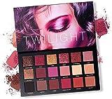 ZXCV UCANBE 18 Color Twilight Eyeshadow Palette Paleta de Sombras de Ojos con Espejo Incluye Mate y Brillo, Juego de Maquillaje de Larga duración con Textura de Terciopelo Natural