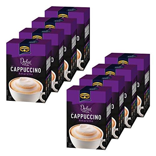 Krüger Dolce Vita Cappuccino, Amaretto, Milchkaffee, Milch Kaffee aus löslichem Bohnenkaffee, 80 Portionsbeutel