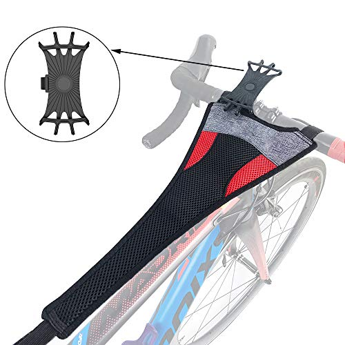 Thinvik Bike Frame Sweat Guard Sweat Absorbs Prevent Bicycle from Corrosion for Bicycle Trainer Indoor Cycling Training-with Phone Mount