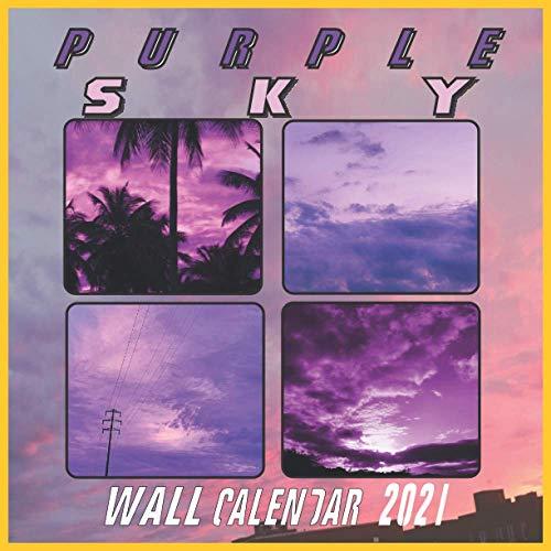 Purple Sky Wall Calendar 2021: Aesthetic Purple Sky 16 Months 2021/2022 Wall Calendar 8.5