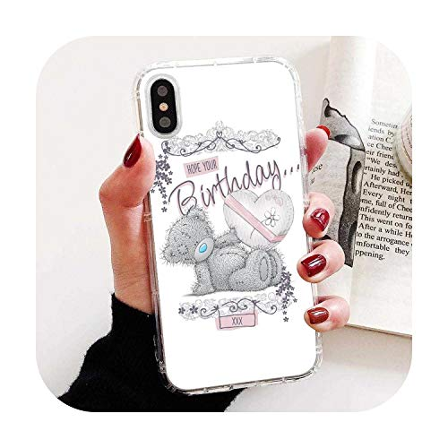 for iPhone 11 Pro 4 4S 5 5S SE 5C 6 6S 7 8 X 10 XR XS Plus Max for iPod Touch Teddy Me to You Bear Phone Soft Cover-Images 5-for iPhone 5C