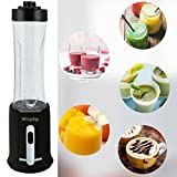 Whipsip Personal Blender for Smoothie Protein Shake Maker with 2 Large Portable Sports Jars, Black