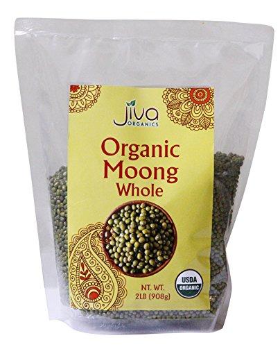 Jiva USDA Organic Whole Moong (Mung) Beans (2LB)