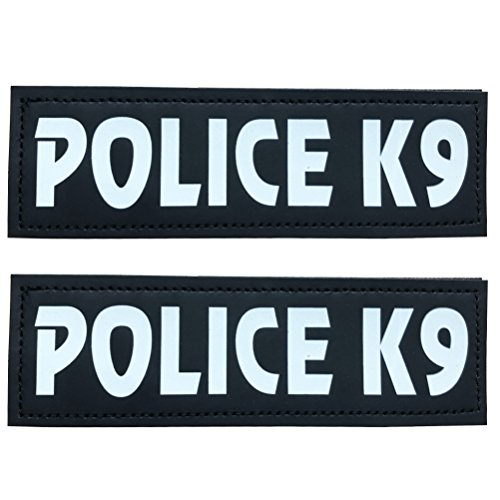 "SGODA Police K9 Patch for Pet Vest and Harness, Large, 6""x2"""