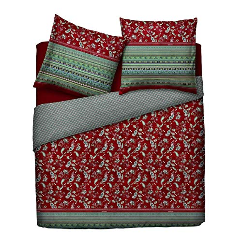 Bassetti Mako-Satin Bettwäsche Amaranto R1 1 Bettbezug 135 x 200 cm + 1 Kissenbezug 80 x 80 cm