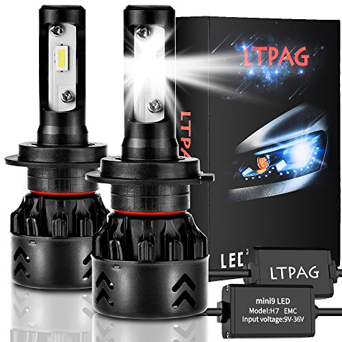 LTPAG Bombilla H7 LED Coche, 2pcs 72W 12000LM Lampara H7 LED 12V/24V Luces LED...