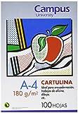 Campus University 220419 - Copertina per rilegare cartoncini 180 g, scatola da 100, A4, colore: blu Maldive