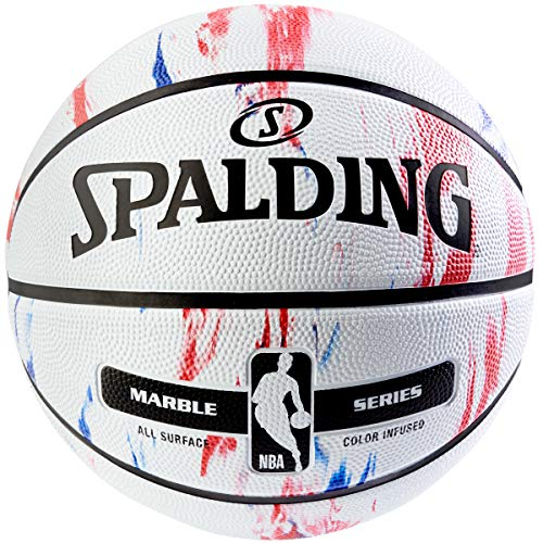 Spalding NBA Marble Series Red/White/Blue Outdoor Basketball 29.5'