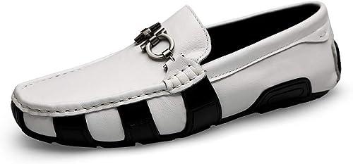 Chaussure en cuir mocassins chaussures bateau chaussure chaussures Lazy Toe ronde chaussure pois chaussures chaussure unique pour hommes
