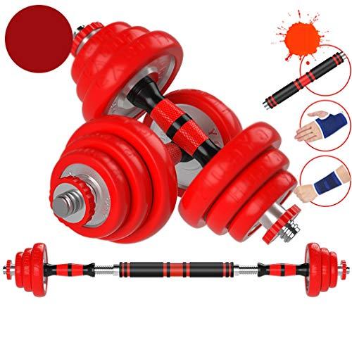 Fitness para Hombre con mancuerna para Pesas de Goma Desmontable Equipos de Aptitud física Electroplastamiento de la casa 7.5kg * 2 / 10kg * 2 (Color : 10kg*2)