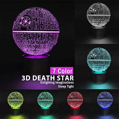 Lámpara LED inteligente para mesita de noche con Bluetooth, 3D, lámpara de ilusión LED, luz nocturna de Star Wars, figura de Yoda para niños, decoración de mesa para bebés, Mini Yoda (C)