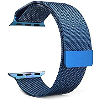 Magnetic Milanese Loop Stainless Steel Metal Band For Apple iWatch 42mm/44mm - Blue Color