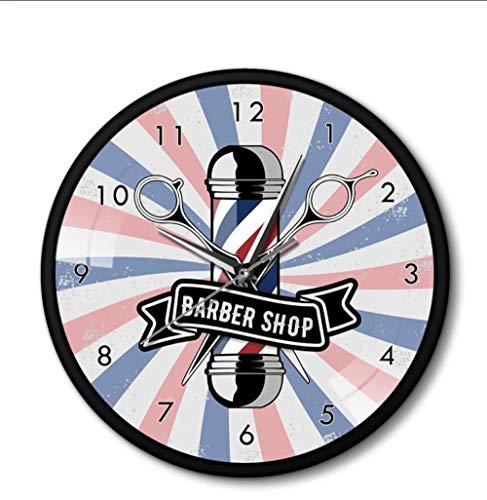 JHLP Barber Pole Schaar voor schoonheidssalon, van metaal, kapsalon, kapsalon, kapper, kapper, kapper, kapper, kapper, kapper, kapper, haarknipper, zwart aluminium