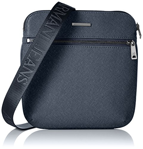 Armani Jeans Shoes & Bags DE Herren 0622ZT2 Schultertaschen, Blau (BLU-Blue G8), 4x23x21 cm