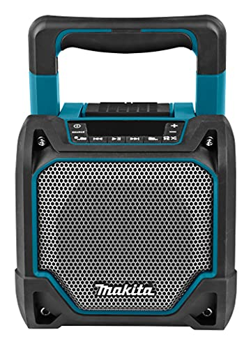 Makita DMR202 10.8V to 18V Li-ion/Mains Speaker with Bluetooth - No batteries included