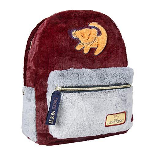 ARTESANIA CERDA Lion King 2100002785 Rucksack, Fell, Rot, 33 cm