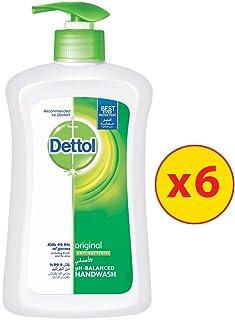 Dettol Original Anti-Bacterial Liquid Hand Wash 200ml, 6 Pieces