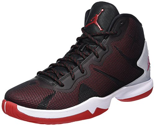 Nike Herren Jordan Super.Fly 4 Basketballschuhe, Schwarz (Black/Gym Red-White-Infrrd 23), 42.5 EU