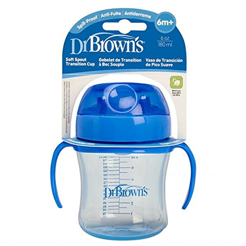 Dr. Brown's Soft Spout Transition Cup Stage 1 6M+ 6Oz (TC61001-Intl) Color May Vary