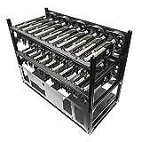 Hydra V Rev. B 20 GPU Frame Rack for Learning/Mining/Rendering Servers, E-ATX and 5 PSU Ready
