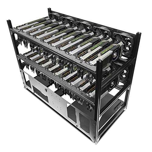 Hydra V Rev. B 20 GPU Frame Rack for Learning/Mining/Rendering Servers, E-ATX and 5 PSU Ready