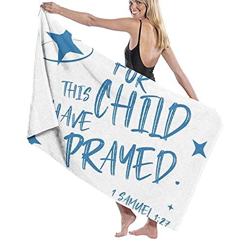 Toalla de natación ligera Super suave cristiano alas bautismo regalos para Dios azul para las mujeres hombres 80*130 cm