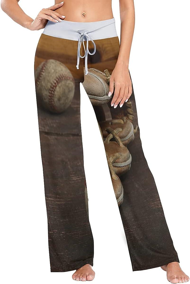 QUZtww Rustic Baseball Pajama Pants Genuine Stretch Translated Wide Trousers Sleep