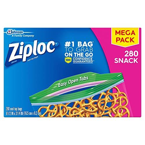 Ziploc Snack Bags 280 Count Now $5.54