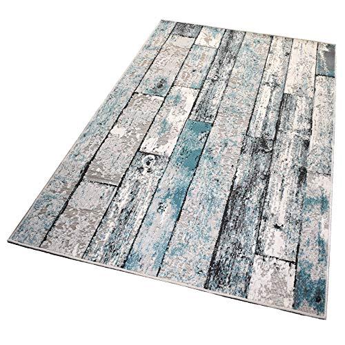 Balta Rugs In- und Outdoor-Teppich Green Wooden Floor M 120x170cm für Innen und Außen