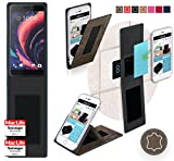 Hülle für HTC One X10 Tasche Cover Hülle Bumper | Braun Wildleder | Testsieger