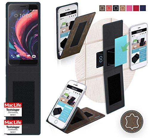 reboon Hülle für HTC One X10 Tasche Cover Case Bumper | Braun Wildleder | Testsieger
