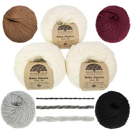 AndeanSun Baby Alpaca Yarn - 3 Pack