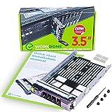 WORKDONE Vassoio Caddy da 3,5 Pollici per Disco Rigido -per Server PowerEdge dell 11°-13° Generazione - Adattatore a Slitta SAS SATA HDD - Hot Plug Scomparto del Carrier - Facile configurazione