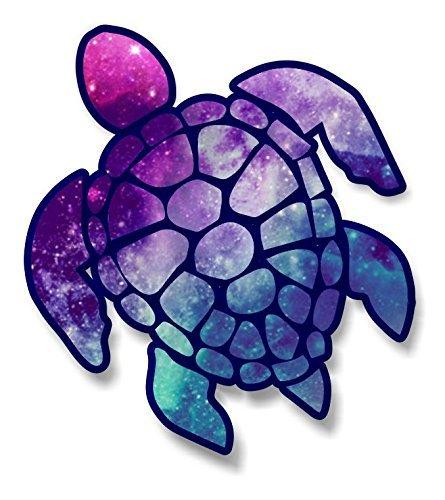 "Magnet Turtle Sticker Starry Sky Color Magnetic vinyl bumper sticker sticks to any metal fridge, car, signs 5"""
