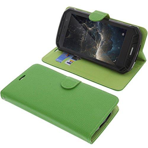 foto-kontor Tasche für Doogee S60 / S60 Lite Book Style grün Schutz Hülle Buch